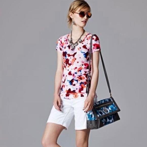 Simply Vera Vera Wang Pants - SIMPLY VERA WANG   White Floral Jacquard